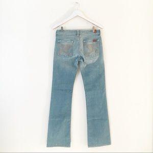 7FAM Flynt Light Denim Wash Bootcut Jeans